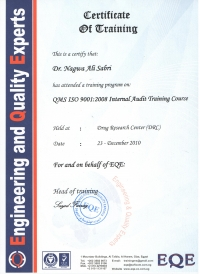 QMS ISO 9001-2008 Internal Audit Training Course