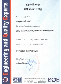 QMS ISO 9001-2008 Awareness Training Course