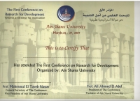 The First Conference on Research for Development Towards astrategy for application